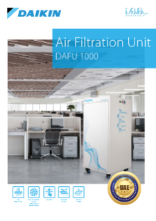 Daikin Air Filtration Unit 1000 Leaflet